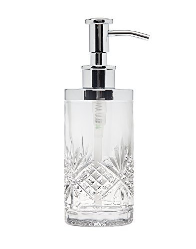 (Godinger Silver Art Dublin Non-leaded Crystal Bathroom Vanity Lotion Dispenser Pump )