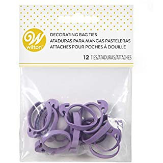 Wilton Icing Bag Ties, 12-Count - Rubber Icing Bag Ties