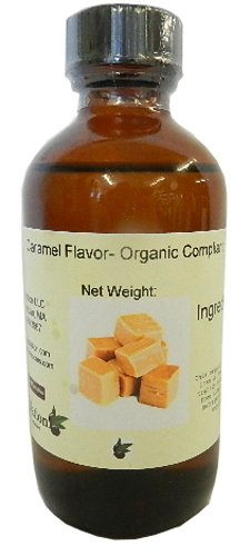 Organic Flavoring - Caramel Flavor- Organic Compliant 4 oz, 4 Ounce
