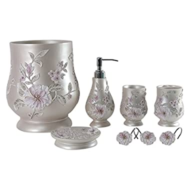 Daniel's Bath & Byound Melrose Accessory Set 5-Piece-Bathroom, Pink, 5 l