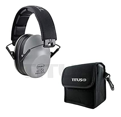 TITUS Low-Profile 34 Decibel NRR Safety Earmuffs Christensen Safety Equipment B2T No Pouch, Black