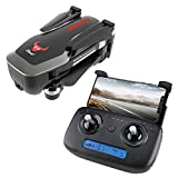 Chercherr SG906 GPS RC Drone, Foldable with 4K HD Camera Live Video GPS Return Home, Strong Brushless Motors, Optical Flow Positioning, Follow Me with 7.4V 2800mAh Lithium Battery Quadcopter (Black)