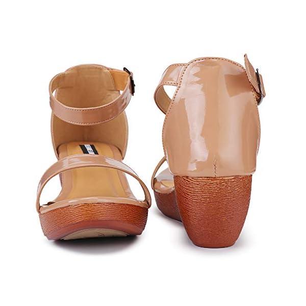DEEANNE LONDON Women's Broad Strap Wedges Heel