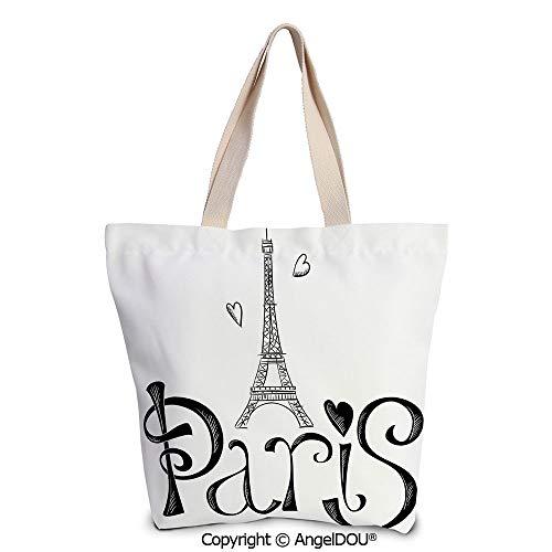 SCOXIXI Paris City Decor Reusable Eco-friendly Shopping Shoulder bag Illustrati]()