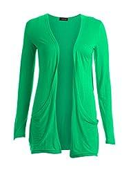 Forever Womens Plus Size Long Sleeves Plain Pockets Boyfriend Cardigan