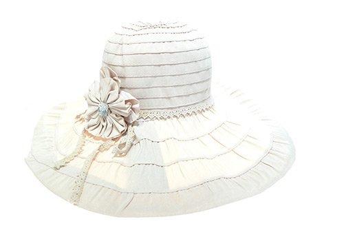 Women's Ribbon Large Brim Bowknot Summber Hat