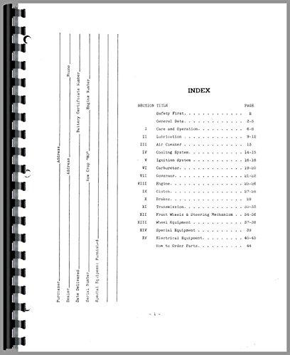 - Oliver 60 Tractor Operators Manual