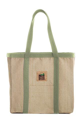 Herbsack Linda Organic Hemp Canvas Tote Bag Avocado Trim Heavy Duty Extra Large