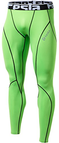 TM-P16-NEKZ_Small Tesla Men's Compression Pants Baselayer Cool Dry Sports Tights Leggings P16