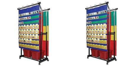 Carson-Dellosa Double Pocket Chart Stand Pocket Chart Accessory (158004) (2-(Pack))