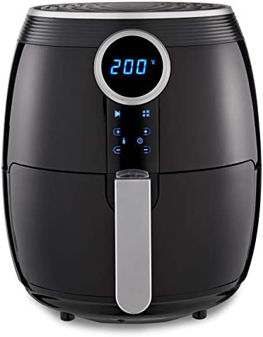 Tower T17056BLK Digital Air Fryer Vortx, Healthy No Oil Cooking, Adjustable 60 Min Timer and 4.5 Litre Capacity, 1500 W, Black, Plastic