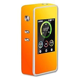 Laisimo L1 200W TC Vape E-Cig Mod Box Vinyl DECAL STICKER Skin Wrap / Orange Color Background Design Print Image