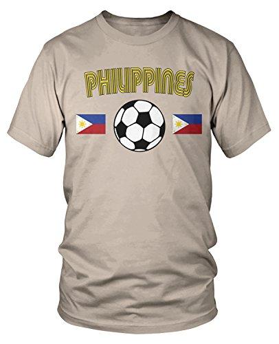 - Amdesco Men's Philippines Soccer, Love Philipine Football T-Shirt, Putty Large