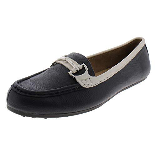 Aerosoles Women's Along Driving Style Loafer, Navy Combo 6.5 M US