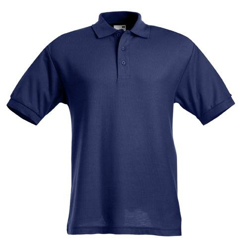 Polo Shirt 65 35 Fruit of the Loom viele Farben S-XXL Navy,XL