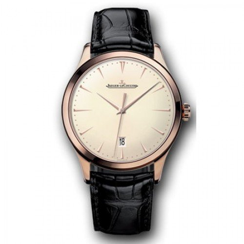 Jaeger LeCoultre Master Ultra Thin Beige Dial Pink Gold Mens Watch Q1282510 (Jaeger Lecoultre Master Ultra Thin Perpetual Calendar Price)