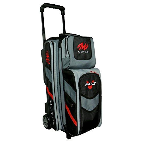 MOTIV Vault 3 ball roller Bowling Bag Black/Grey/Red by Motiv