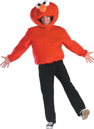Disguise Men's Sesame Street Elmo Costume, Red, Medium