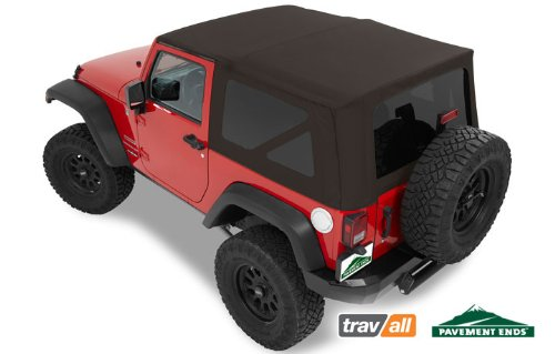 Pavement Ends by Bestop 51202-36 Khaki Diamond Replay Replacement Soft Top Tinted Windows-No door skins included-No frame hardware included- 2007-2009 Jeep Wrangler - Bestop Khaki Diamond