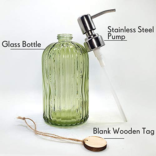 Buy dark green glass bathroom accessories