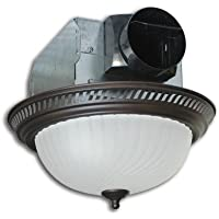 DRLC701 Decorative Round Fan w/ 60W Fluorescent Light (Bronze, 70 CFM)