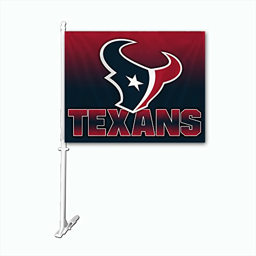 NFL Houston Texans Car Flag with Wall Brackett, One Size, White
