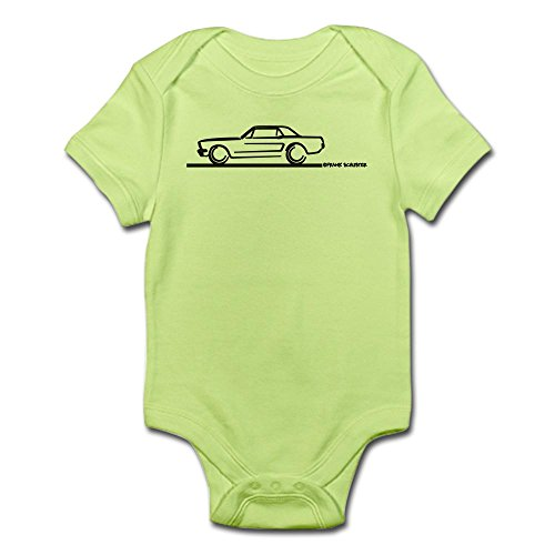 CafePress - Mustang 64 To 66 Hardtop - Cute Infant Bodysuit Baby Romper
