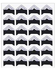 Yesallwas 10 Sheets (240PCS) Self Adhesive Paper Photo Corner Stickers For Scrapbooking Personal Journal & Diary Adhesives And Photo Craft