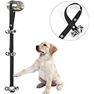 Luckyiren Upgraded Puppy Bells Dog Doorbells for Door Knob/Potty Training/Go Outside-Dog Bells for Puppies Dogs Doggy Doggie Pooch Pet Cat for Dog Lovers-Premium Quality-3 Snaps for Length Adjustment
