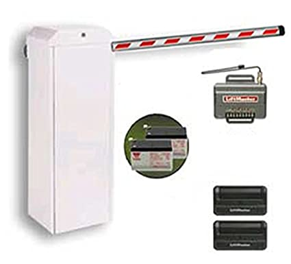 Chamberlain LiftMaster Mega Arm Sprint Tower (MASTDCBB3) Parking Barrier  Gate Operator KIT Includes 8 FT  Padded Boom, Receiver, Two Batteries, Two