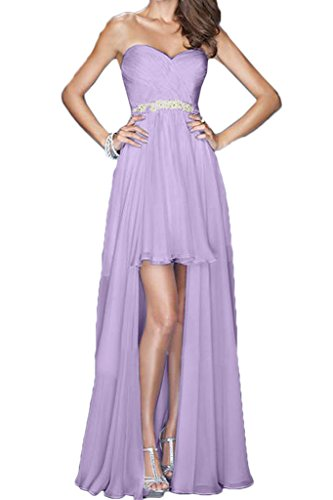 Promkleid Lo Damen Herzform Ballkleid Partykleid Chiffon Abendkleid Lang Ivydressing Lavendel Einfach Hi Festkleid 0HRqa6w