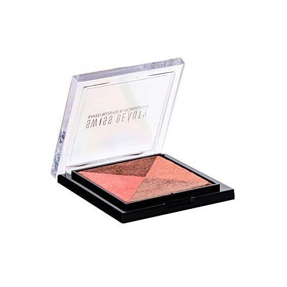 Swiss Beauty Baked Blusher & Highlighter, Face MakeUp, Multicolor-01, 7g