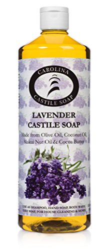 Carolina Castile Soap Lavender w/Kukui Nut Oil & Organic Cocoa Butter - 32 oz