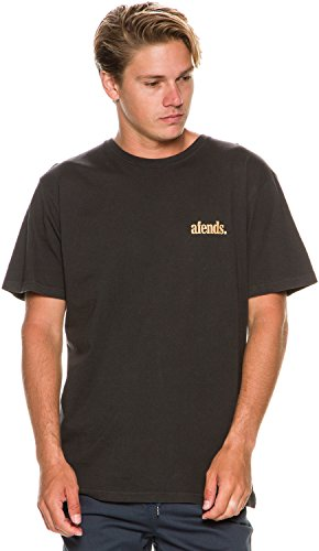 Afends Mens XL Faded Black