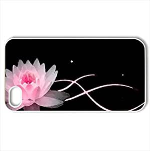 Lotus - Case Cover for iPhone 4 and 4s (Flowers Series, Watercolor style, White)