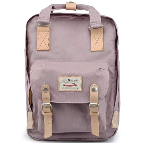 Himawari School Waterproof Backpack 15 Inch College Vintage Travel Bag for Women, 14 Inch Laptop Compartment for Student (HM-41#)