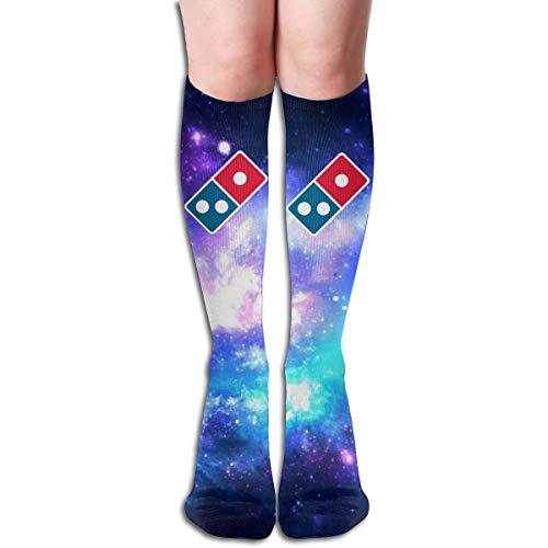 (Xdinfong Dominoâ'¬s Pizza Logo Fashion Over The Calf Socks for Men & Women)