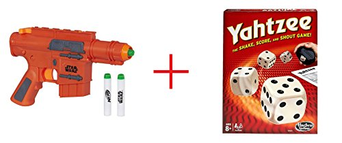 NERF Star Wars Rogue One Captain Cassian Andor Blaster and Yahtzee Classic - Bundle