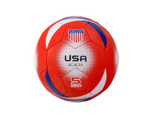 (Acacia USA World Soccer Ball, Red/White/Blue, Size 5)