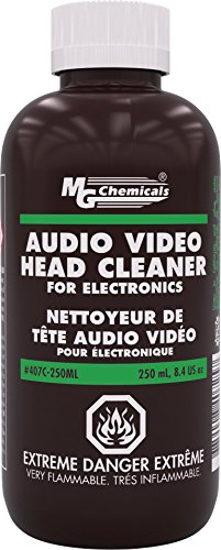 MG Chemicals 407C-250ML Audio/Video Head Liquid Cleaner, 250 ml Bottle by MG Chemicals
