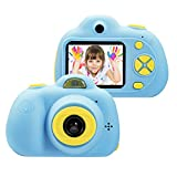 OMZER Kids Toys Camera for 3-6 Year Old Girls Boys, Compact Cameras for Children, Best Gift for 5-10 Year Old Boy Girl 8MP HD Video Camera Creative Gifts,Blue(16G SD Card Included)