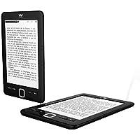 """Woxter Scriba 195 - Lector de libros electrónicos de 6"""" (800 x 600, e-ink pearl pantalla más blanca, EPUB, PDF, micro SD, guarda más de 4000 libros, textura engomada) color negro"""