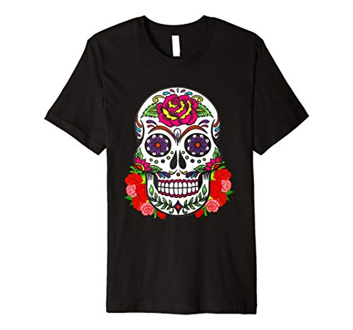 Flower Woman Sugar Skull Costume Tshirt 2018