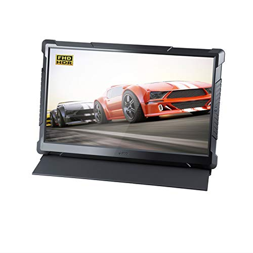 G-STORY 17.3 Inch HDR 120Hz 1ms FHD 1080P Eye-Care Portable Gaming Monitor, TN Panel, with FreeSync, Type-C, HDMI Cable, Built-in Speaker, Remote, UL Certificated AC Adapter