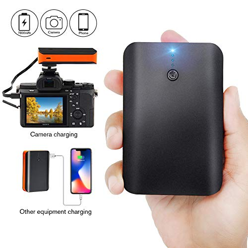 Camera Battery for Sony, GoPro and Panasonic Cameras, NP-FW50 Battery, NP-FZ100 Battery,Power Bank for Camera Portable External 7800mAh Battery Packs,USB Quick Charge 3.0 Power Bank for Mobile Devices