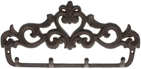 Cast Iron Metal Garden Tool Wall Coat Hat Robe Hook Rack Home Shed Cabin Decor