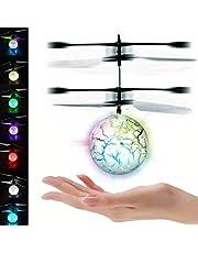 UTTORA Ballon Volant, Drone Infrarouge de Poche Infrarouge à Induction Mini Drone Mini RC de Vol Jouets avec Clignotants à LED pour Enfants Adultes (7 Couleurs dynamiques)