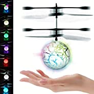 UTTORA Flying Ball, Kids RC Flying Toys Infrared Induction Models Aircraft Helicopter Ball Kids Gadgets Mini Drone Flying To
