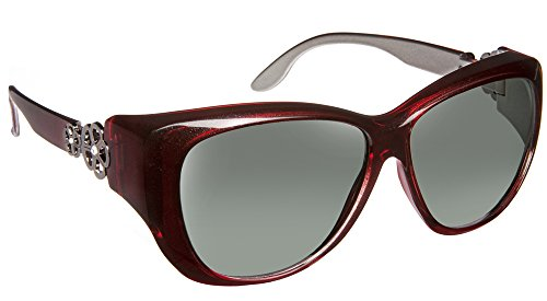 Haven Fitover Sunglasses Manhattan in Red & Polarized Grey - Sunglasses Haven