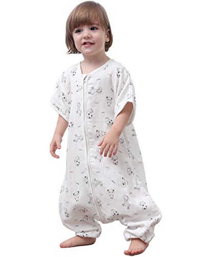 Early Sleepsack Walker (Kisbaby Early Walker Sleeping Sack Spring Four Layer Muslin Toddler Wearable Blanket, Panda, 2T)